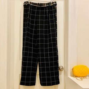 Who What Wear Brushed Plaid Wide Leg Trousers
